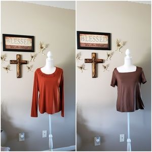 BUNDLE OF 2 EAST 5TH BLOUSES